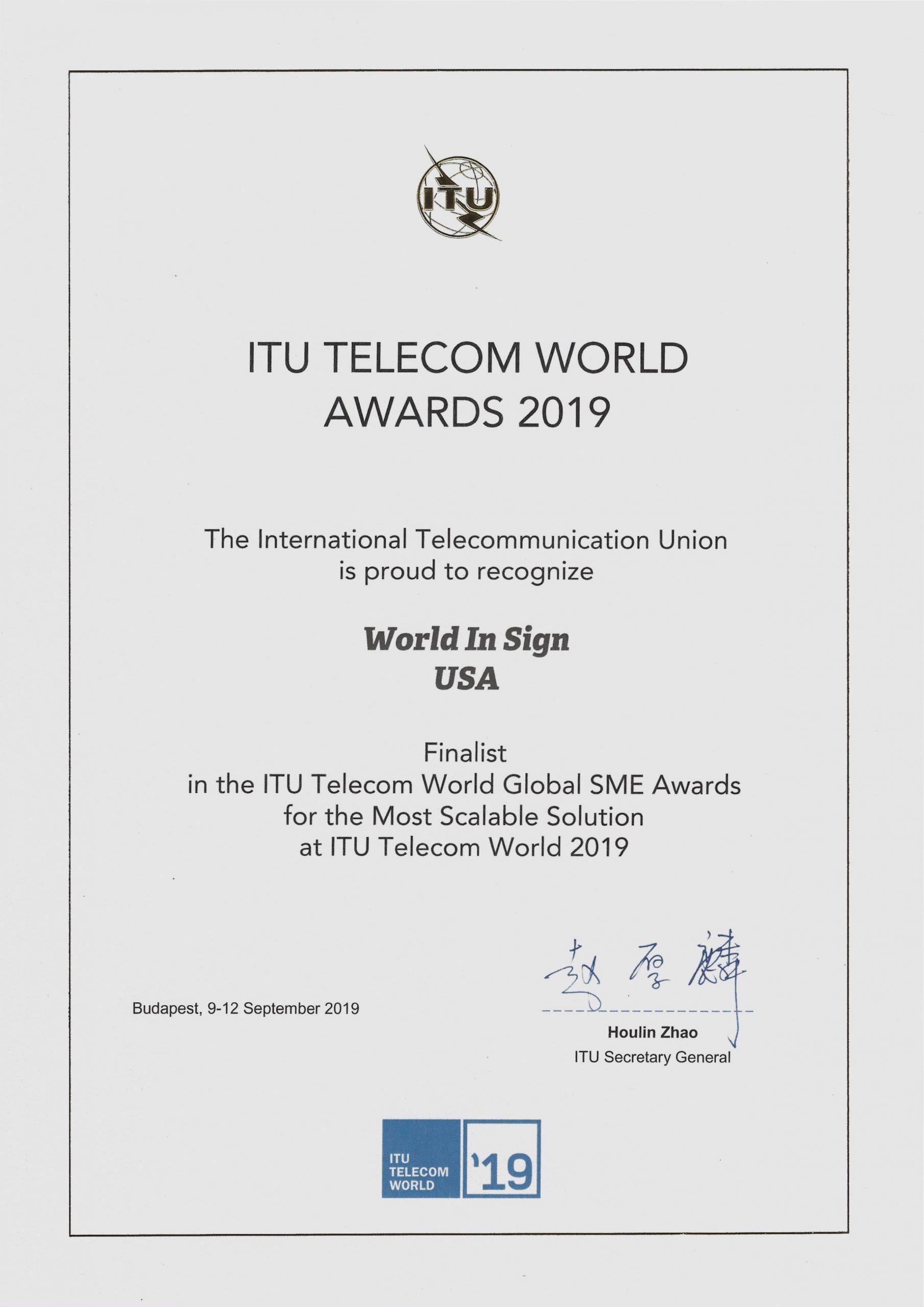 ITU 2019, Budapest