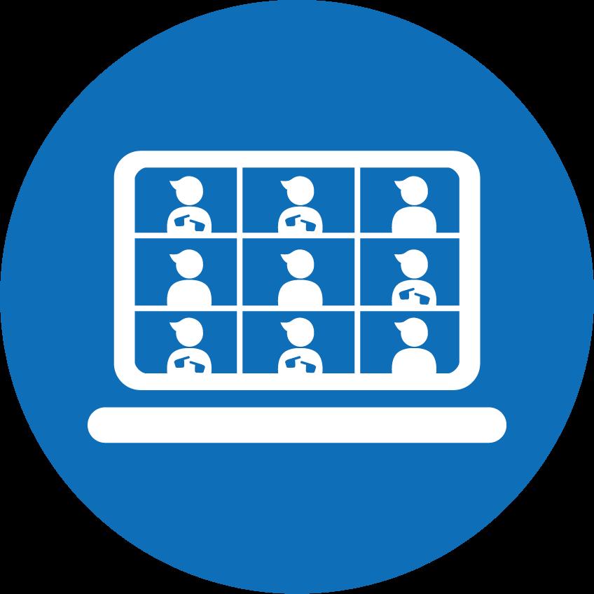 [Icon] Online Event Management(Blue_Circle)